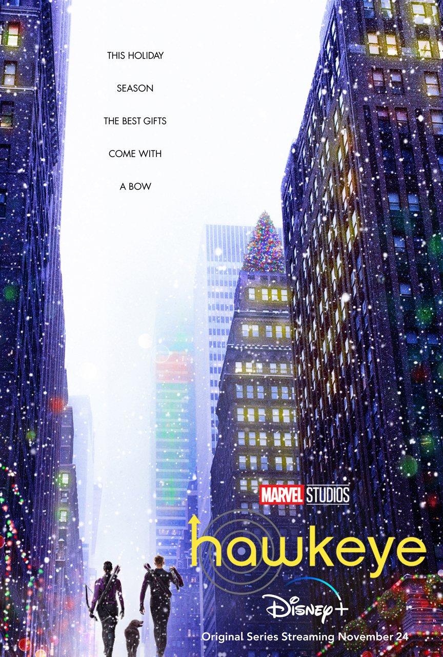 plakat serialu Hawkeye - Marvel Disney